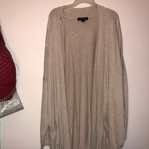 Long length creme cardigan
